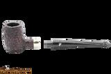 Peterson Specialty Barrel Rustic Nickel Mounted Tobacco Pipe PLIP Apart