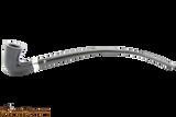 Peterson Churchwarden Ebony Silver Mounted Calabash Pipe Fishtail