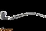 Peterson Churchwarden Ebony Silver Mounted Calabash Pipe Fishtail Apart