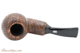 Chacom Reverse Calabash Sandblast Brown Tobacco Pipe Top