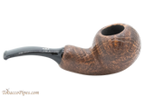 Chacom Reverse Calabash Sandblast Brown Tobacco Pipe Right Side
