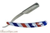 Beyler Stainless Steel Straight Razor 100-0022 Barber Stripes