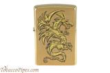 Zippo Brushed Brass Dragon Lighter