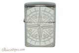 Zippo Nautical Black Ice Compass Lighter
