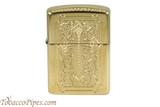 Zippo Spiritual High Polish Brass Cross Lighter