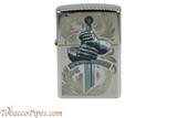 Zippo Mythical Black Ice Knight Gloves Lighter