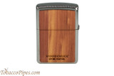 Zippo Woodchuck USA Cedar Lighter Back