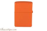 Zippo Orange Matte Lighter Back