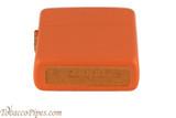Zippo Orange Matte Lighter Bottom