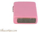Zippo Slim Pink Matte Lighter Bottom