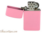 Zippo Slim Pink Matte Lighter Open