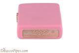 Zippo Pink Matte Lighter Bottom