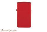 Zippo Slim Red Matte Lighter