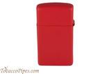 Zippo Slim Red Matte Lighter Right Side