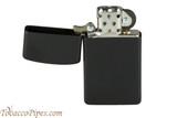 Zippo Slim Black Matte Lighter Open