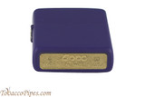 Zippo Purple Matte Lighter Bottom