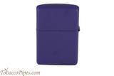 Zippo Purple Matte Lighter Right Side
