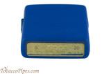 Zippo Royal Blue Matte Lighter Bottom