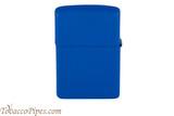 Zippo Royal Blue Matte Lighter Back