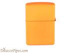 Zippo Neon Orange Lighter Back