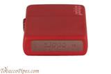 Zippo Red Matte Zippo Logo Lighter Bottom