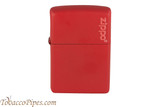 Zippo Red Matte Zippo Logo Lighter