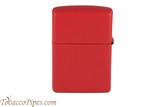 Zippo Red Matte Zippo Logo Lighter Back