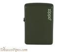 Zippo Green Matte Zippo Logo Lighter