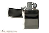 Zippo Slim Black Ice Lighter Open