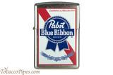 Zippo Beer Pabst Blue Ribbon White Logo Lighter