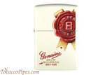 Zippo Spirits Jim Beam Rosette White Matte Lighter