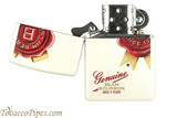 Zippo Spirits Jim Beam Rosette White Matte Cigar Lighter