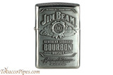 Zippo Spirits Jim Beam Pewter Emblem Chrome Lighter