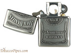 Zippo Spirits Jack Daniels Pewter Emblem Chrome Pipe Lighter