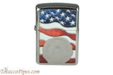 Zippo Patriotic American Stamp Flag Lighter