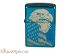 Zippo Patriotic Blue Eagle and Flag Lighter