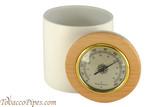 Cobblestone Ceramic Humidor Jar Open