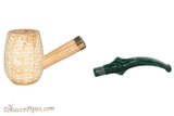 Missouri Meerschaum Emerald Bent Tobacco Pipe Apart