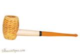 Missouri Meerschaum Huck Finn Amber Stem Tobacco Pipe