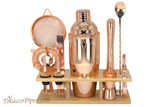 Beyler 11 Piece Rose Gold Mixology Set with Stand