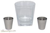 Beyler Companion Flask Whiskey Glass Set Shot Glasses