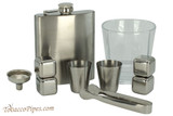 Beyler Companion Flask Whiskey Glass Set