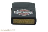 Zippo Harley Davidson Black Matte Logo Lighter Bottom