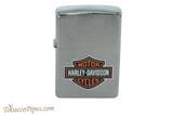 Zippo Harley Davidson Brushed Chrome Logo Lighter