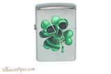 Zippo Luck Gothic Clover Skull Lighter