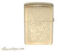Zippo Venetian High Polish Brass Lighter Back