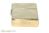 Zippo Brass Lines Zippo Logo Lighter Bottom