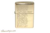 Zippo Brass Paisley Zippo Logo Lighter