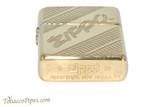Zippo Brass Coiled Zippo Logo Lighter Bottom