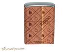 Zippo Woodchuck USA Cedar Wrap Lighter Back